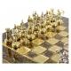 Schachspiel Griechische Bogenschützen bronze - 28cm