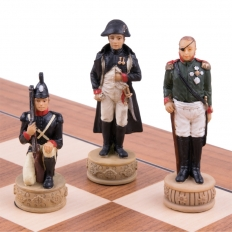 Schachspiel Napoleon vs Russland - 50cm