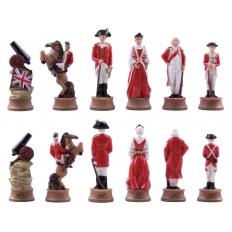 Schachfiguren Amerikanischer Unabhängigkeitskrieg - 80mm