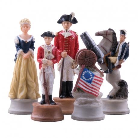 Schachfiguren Amerikanischer Unabhängigkeitskrieg