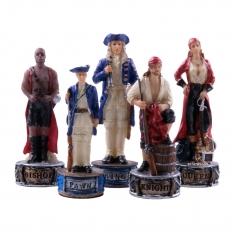 Schachfiguren Piraten vs Royal Navy