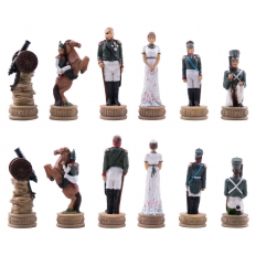 Schachfiguren Napoleon vs Russland - 80mm