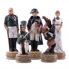 Schachfiguren Napoleon vs Russland