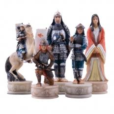 Schachfiguren Samurai
