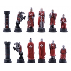 Schachfiguren Kreuzritter - 80mm