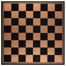 Schachbrett Kunstleder Schwarz-Gold [45IF]