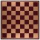 Schachbrett Kunstleder Burgund-Gold [45IF]