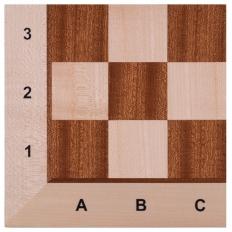 Schachbrett Ahorn / Mahagoni TWK - 48cm