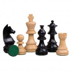 Schachfiguren German Staunton [Schwarz]