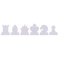 Schachfiguren Demobrett rot / weiss