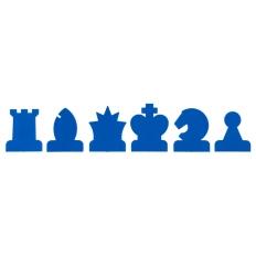 Schachfiguren Demobrett blau / weiss