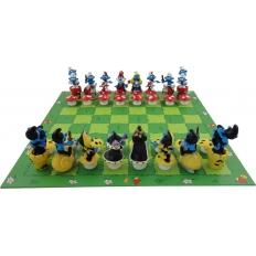 Schlümpfe Schachspiel - 42cm