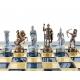 Schachspiel Griechische Bogenschützen blau - 28cm