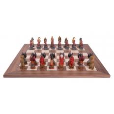 Schachspiel Wasser vs Feuer - 50cm