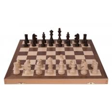 Schachkassette Nussbaum