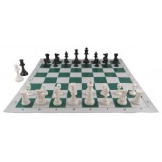 Schachspiel American [green-ivory]