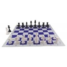 Schachspiel American [blue-Ivory]