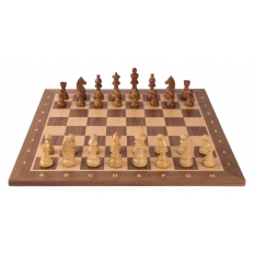 Turnier Schachspiel Nussbaum - 54cm