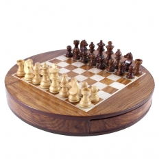 Schachkassette Rund