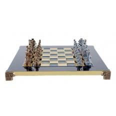 Schachspiel Griechisch-Römische Epoche blau - 28cm