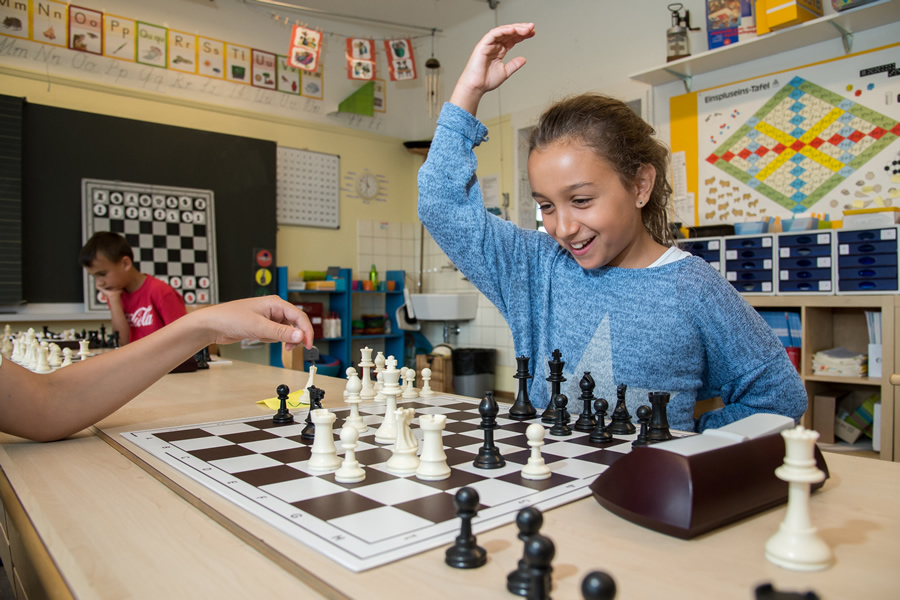 Schach in der Schulle soll Spass machen!