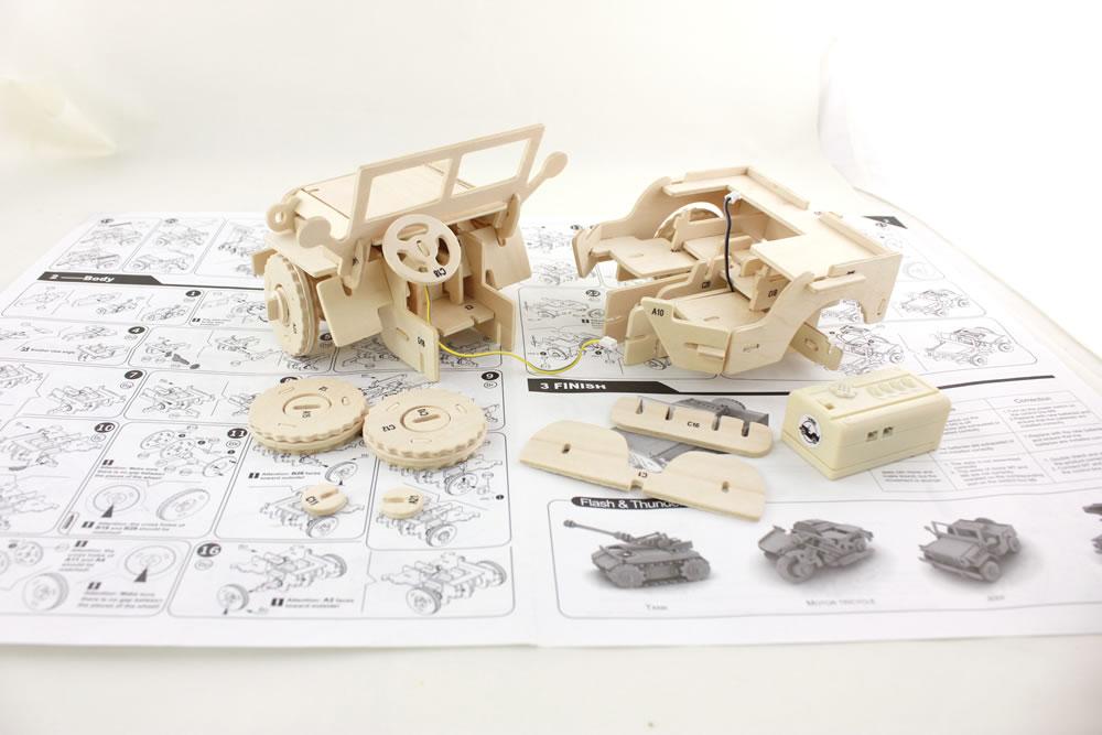 3D Holzpuzzle Bauanleitung