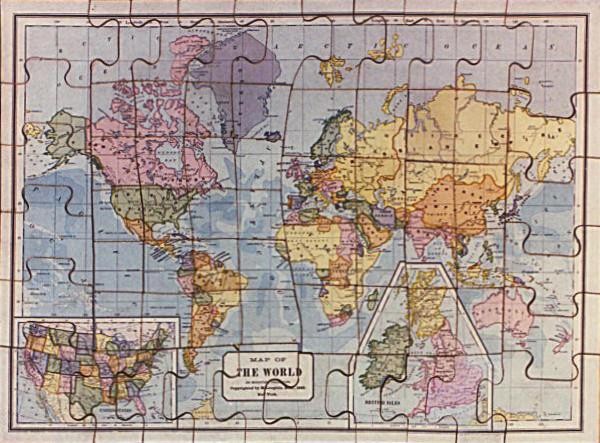 Landkarte Puzzle