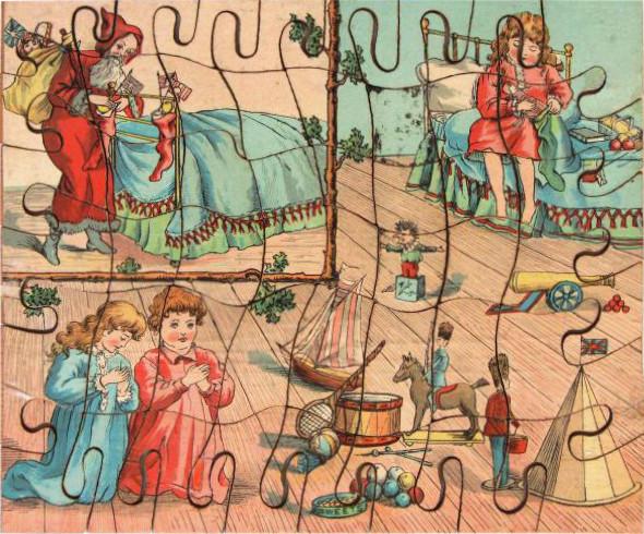 Kinderpuzzle im 19. Jahrhundert