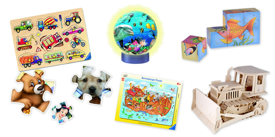 Kinderpuzzles und deren Arten