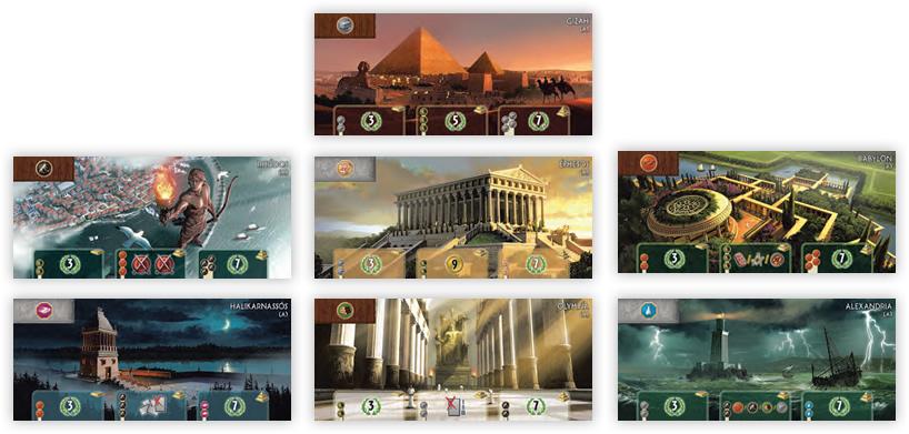 Sieben Weltwunder für max. sieben Spieler.