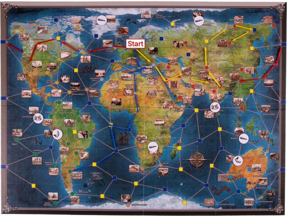 Die drei Expeditionen sind im Gange und es konnten bereits einige Ortsmarker entfernt werden.